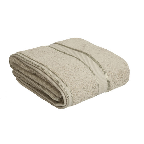 100% Cotton Linen / Latte Coffee Bath Towel