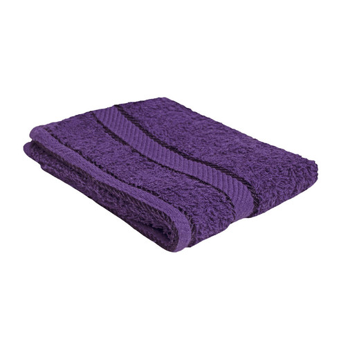100% Cotton Purple Face Washer