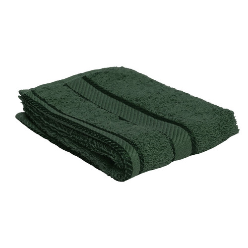 100% Cotton Forest Green Face Washer