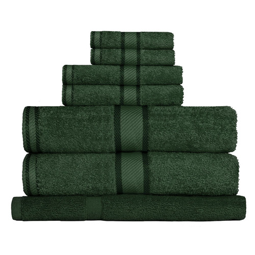 100% Cotton Forest Green 7pc Bath Towel Set
