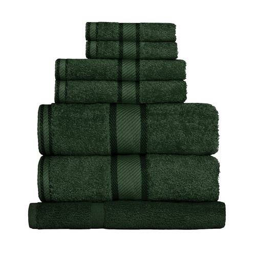 100% Cotton Forest Green 7pc Bath Sheet Set