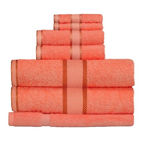 100% Cotton Terracotta / Rust 7pc Bath Towel Set