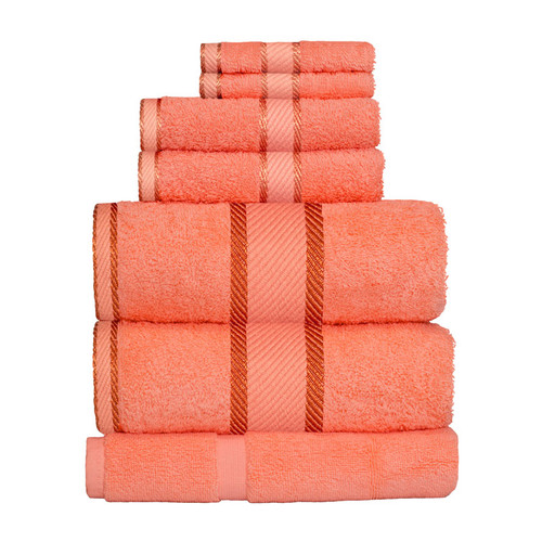 100% Cotton Terracotta / Rust 7pc Bath Sheet Set