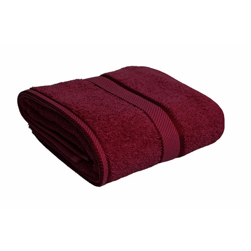 100% Cotton Burgundy Bath Towel