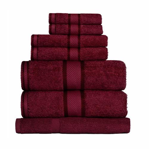 100% Cotton Burgundy 7pc Bath Sheet Set