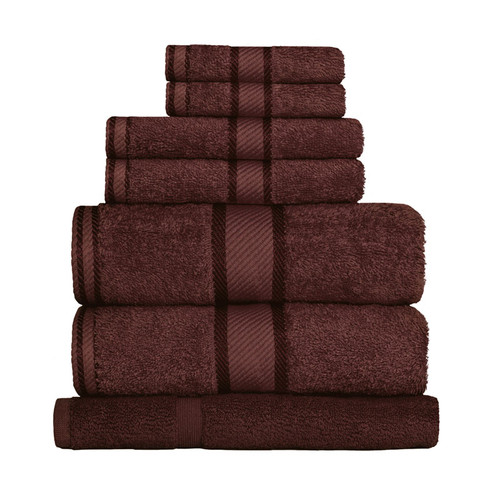 100% Cotton Chocolate Brown 7pc Bath Sheet Set
