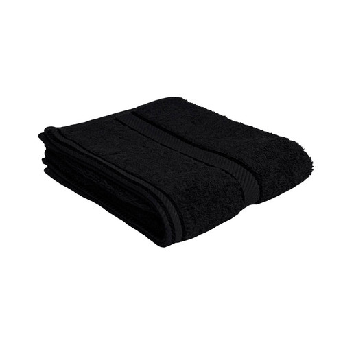 100% Cotton Black Hand Towel