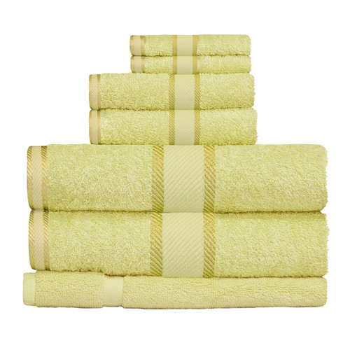 100% Cotton Apple Green 7pc Bath Towel Set
