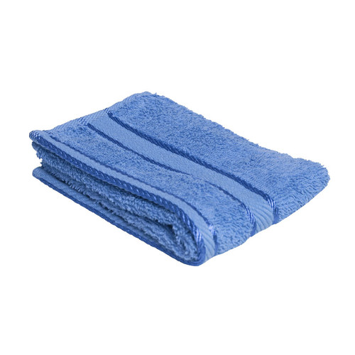 100% Cotton Blue Face Washer