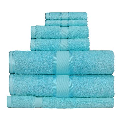 100% Cotton Turquoise 7pc Bath Towel Set