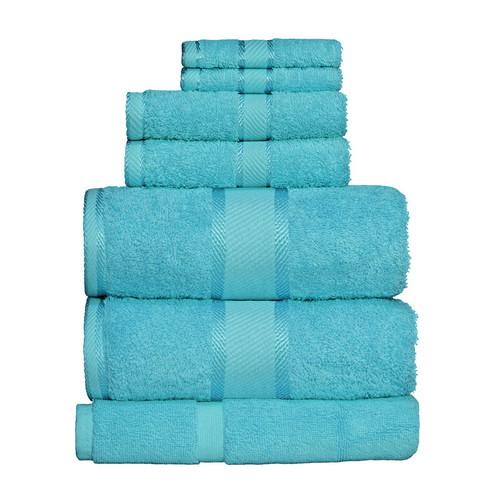 100% Cotton Turquoise 7pc Bath Sheet Set