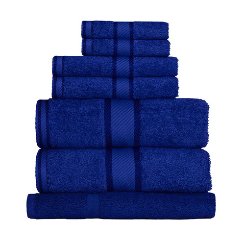 100% Cotton Royal Blue 7pc Bath Sheet Set