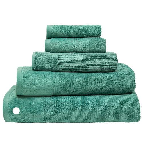 100% Cotton Costa Kingfisher Ribbed Bath Sheet