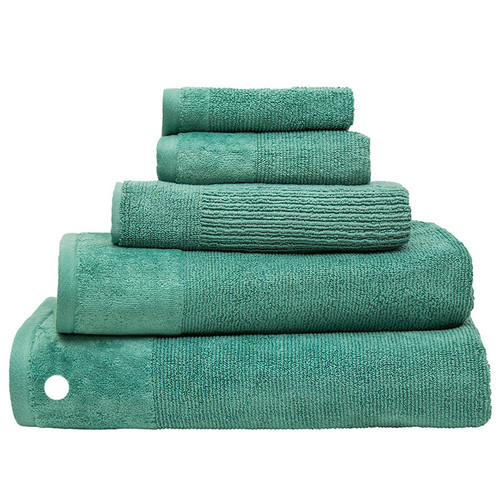 100% Cotton Costa Kingfisher Ribbed Bath Sheet