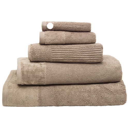 100% Cotton Costa Mocha Ribbed Face Washer