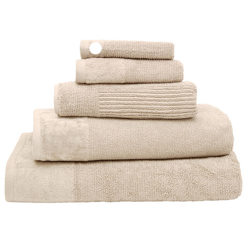 100% Cotton Costa Stone Ribbed Face Washer