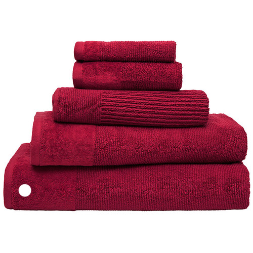 100% Cotton Costa Raspberry Ribbed Bath Sheet
