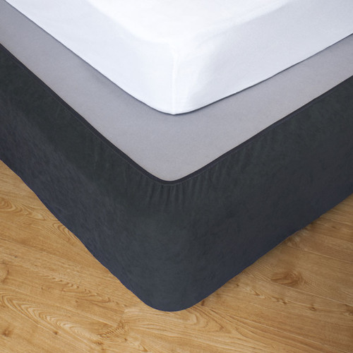 Slate Queen Bed Stretch Bed Wrap Valance