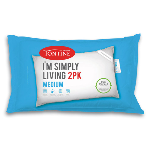 Tontine Simply Living 2pk Medium Pillow