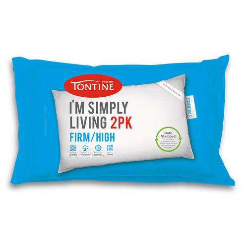 Simply Living Firm High 2pk Pillow