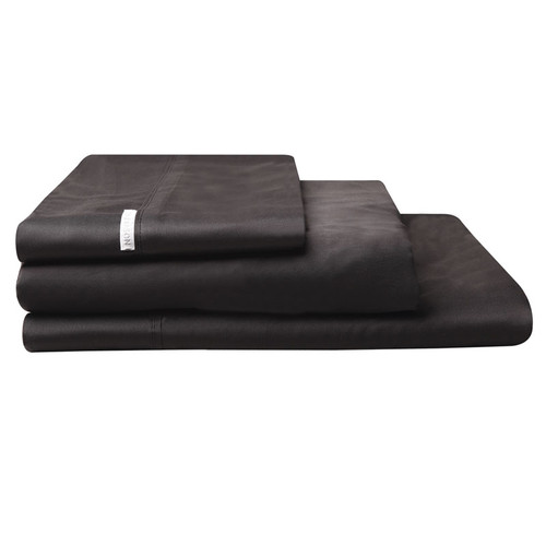 Logan and Mason Granite Black Sheet Set | My Linen