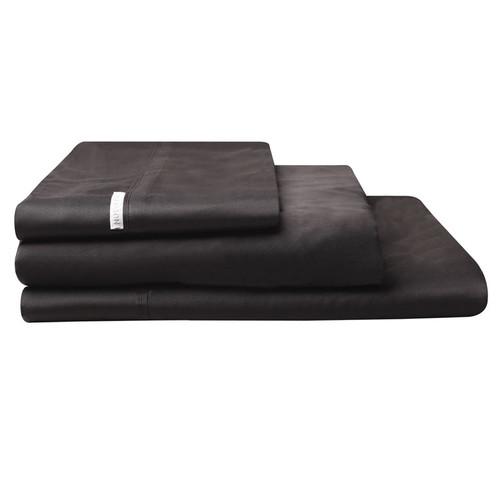 Logan and Mason Granite Black Sheet Set | My Linen