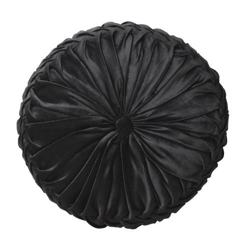 Logan and Mason Tempo Black Round Filled Cushion | My Linen