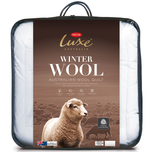 Tontine Luxe Single Bed Wool Winter Quilt   My Linen