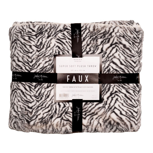 Jenny Mclean Animal Print Zebra Throw | My Linen