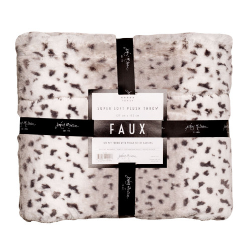 Jenny Mclean Animal Print White Tiger Throw | My Linen