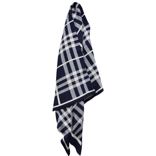 Jenny Mclean Tricote Navy Throw | My Linen