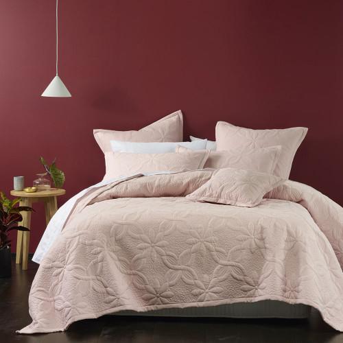 Bianca Queen / King Bed Krystal Blush Coverlet Set   My Linen