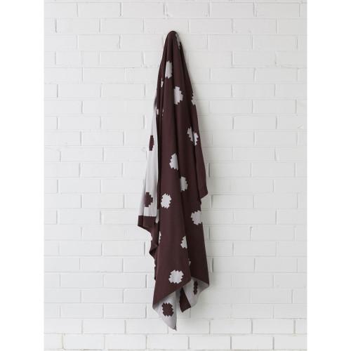 Linen House Getty Aubergine Throw | My Linen