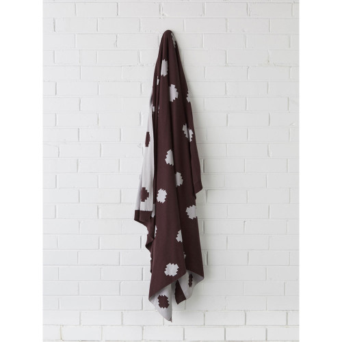 Linen House Getty Aubergine Throw | My Linen