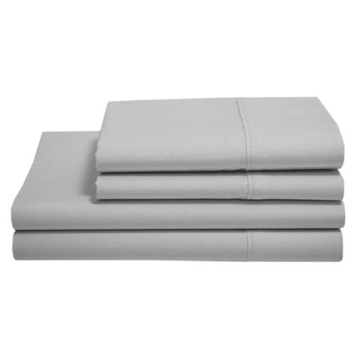 Alexei Essential Microfibre Silver King Bed Sheet Set | My Linen
