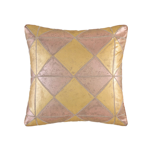 KAS Simmi Gold Square Filled Cushion | My Linen
