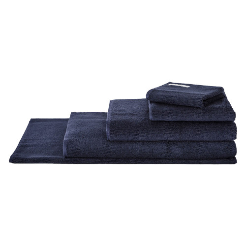 Sheridan 100% Combed Cotton Twist Towel Collection 7pc Bath Sheet Set Midnight | My Linen