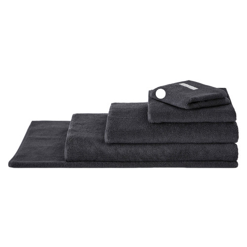 Sheridan 100% Combed Cotton Twist Towel Collection Face Washer Graphite | My Linen