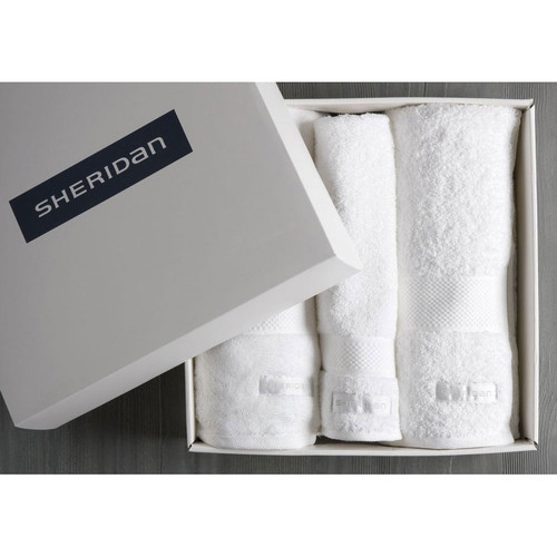 Luxury Egyptian Towel Gift Set | Snow