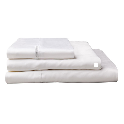 Logan and Mason Egyptian Cotton Fitted Sheet White   My Linen