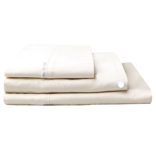Logan and Mason Egyptian Cotton Fitted Sheet Vanilla | My Linen