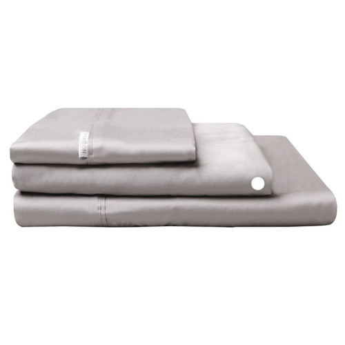 Logan and Mason Egyptian Cotton Fitted Sheet Pewter   My Linen