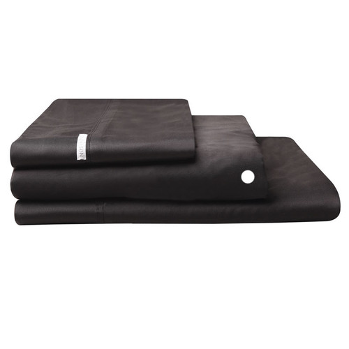 Logan and Mason Egyptian Cotton Fitted Sheet Granite   My Linen