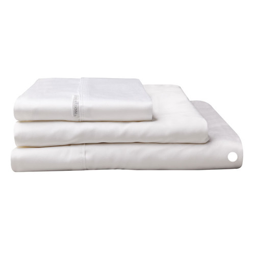 Logan and Mason Egyptian Cotton Flat Sheet White | My Linen