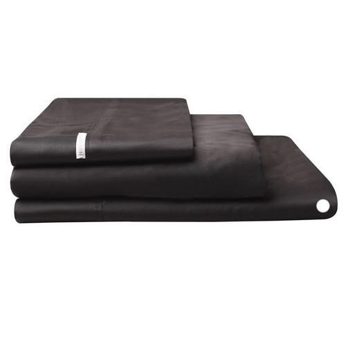 Logan and Mason Egyptian Cotton Flat Sheet Granite | My Linen