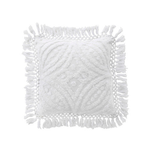 Bianca Savannah White Square Filled Cushion | My Linen