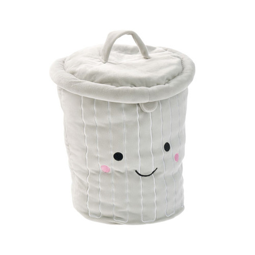 Hiccups Gary Garbage Bin Novelty Filled Cushion Detail | My Linen
