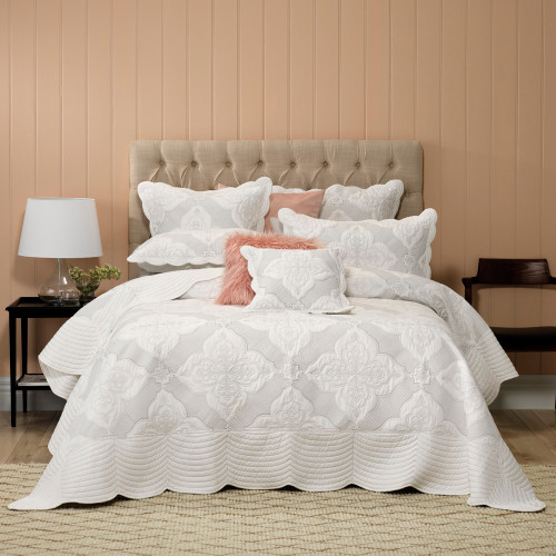 Bianca Madison White Queen Bed Bedspread Set | My Linen
