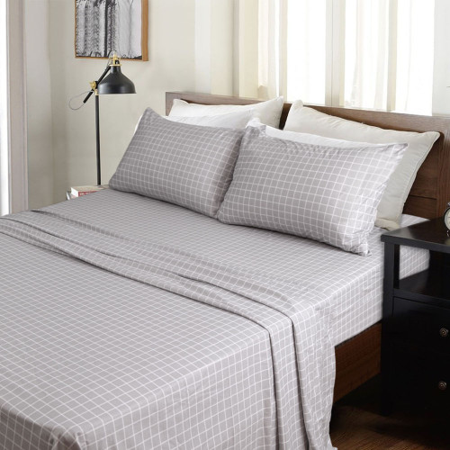 Kingtex Micro Flannel 40cm Single Bed Sheet Set Barely Square | My Linen
