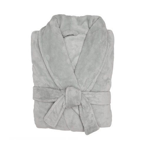 Bambury Microplush Bathrobe Silver Medium / Large | My Linen
